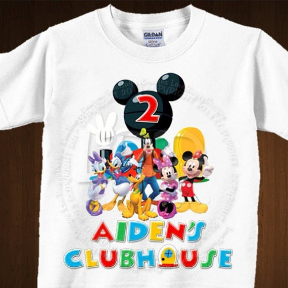 mickey mouse clubhouse birthday shirt image iron on