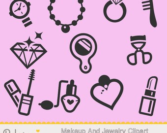 Makeup - Jewelry Icons - Clipart