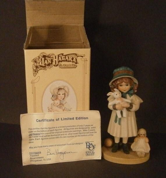 Jan Hagara Figurines: Jan Hagara Figurine Lesley 1214 Vintage 1987 1988 Original