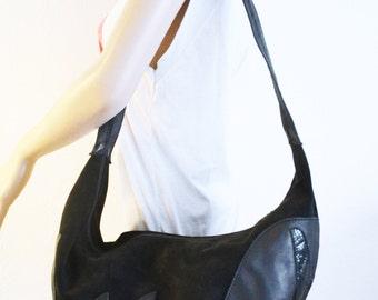 Blue suede Leather purse,purse,Snakeskin,bag, Shoulder Bag,Hobo bag