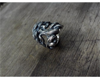 Yggdrasil the World Tree Sterling Silver Norse Viking Ring
