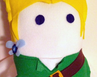 Link from Zelda Decorative Fleece Character Geek Pillow (plush, cushion)