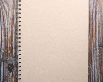 Plain Kraft Notebook, Sketchbook, Journal, Gift Idea