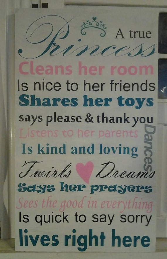 Princess princess sign girls room girls by beadazzledandbeyond for Signs for little girl rooms