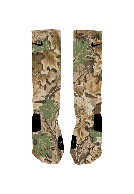 custom camouflage socks camo custom nike elite socks