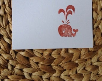 5 handmade cards with envelope