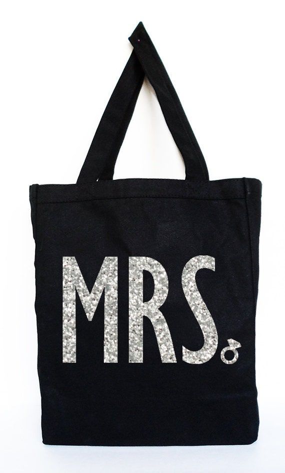 MRS Bride Tote  - Bridal Tote, Bridal Bag, Wedding Bag, Bridal Gift, MRS, Wedding, Bride