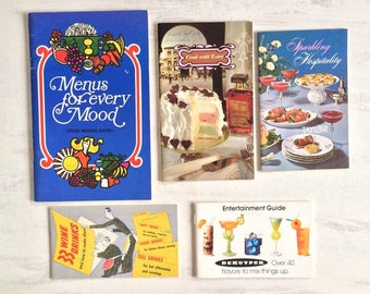 5 Vintage Recipe Booklets Using Wine and Spirits