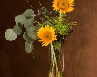 Curly Maple Wood Large Vase - Large Flower Vase - Centerpiece