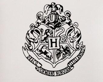 Hogwarts House Crest Vinyl Decal