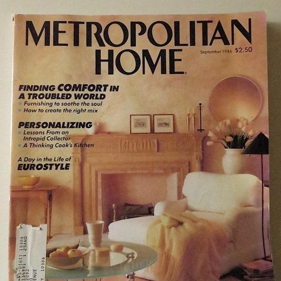 80s vintage magazine metropolitan home magazine 1986 home decor