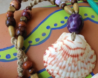 SALE! Mermaid's Shell Hemp Necklace