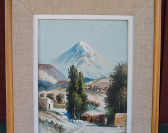 The Road to Taos-Vintage Original Framed Oil on Canvas