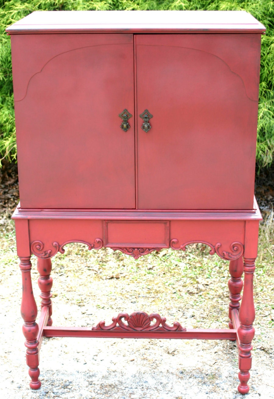 Wine Cabinet Antique Radio Cabinet Repurposed Furniture In