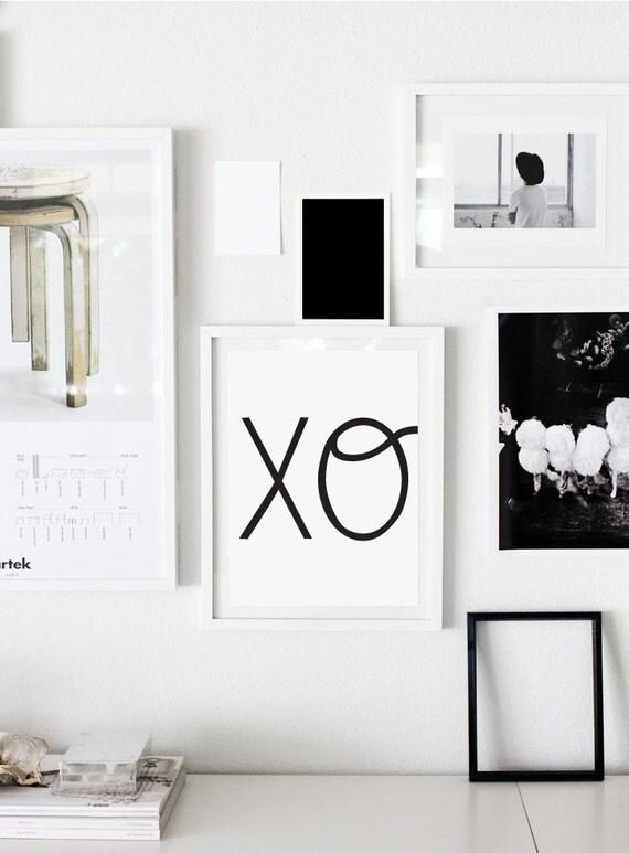 Xo Print Xoxo Hugs And Kisses Scandinavian Print By Colourmoon