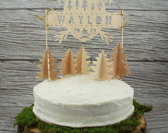 Personalized Wilderness Cake Topper