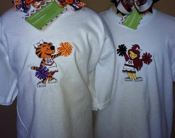 Items Similar To College Quot 3n1 Quot Bow Ties In Clemson And Usc