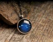 Ursa Major necklace, constellation necklace, stars necklace, night sky necklace, silver necklace, blue necklace, astronomical necklace