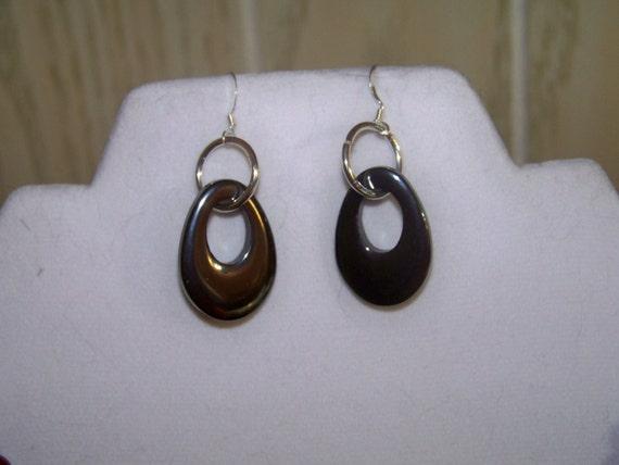 Earrings - Hematite Drops
