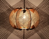 Handcrafted Wood Light Fixture