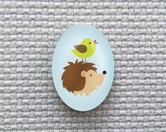 Magnetic Hedgehog and Bird Needle Minder for Cross Stitch, Embroidery, & Needlecrafts (18mmx25mm with Strong Magnet)