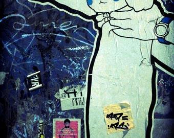 Cat Street art print - LIMITED EDITION