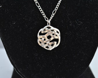 Fine Silver Celtic Circle Necklace