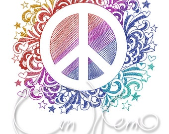 MACHINE EMBROIDERY FILE - Messengers of peace emblem