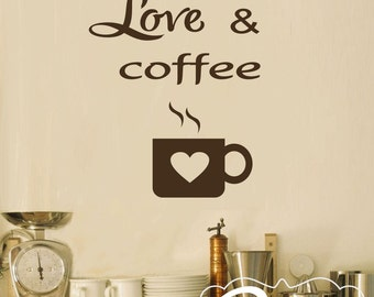 Kitchen Wall Decal Coffee Decal  Kitchen Decal Kitchen Art  Coffee  Decoration Coffee Decor Kitchen