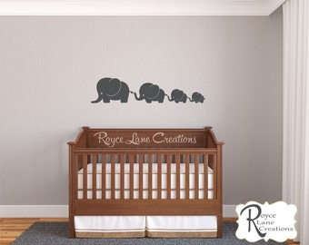 Cute Baby Elephant 4 Elephant Nursery Decal