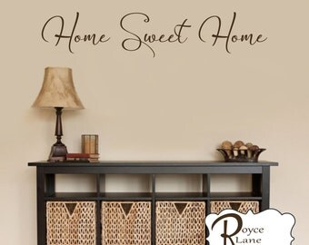 Home Sweet Home Decal 7  Home Sweet Home Wall Decal  Foyer Decor