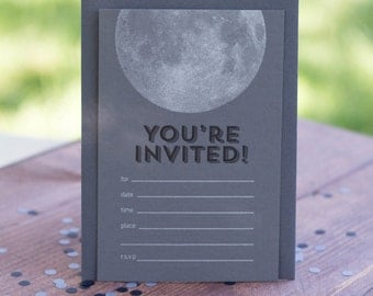 You're Invited! Letterpress Invite Set of 10
