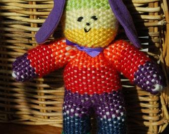 Hand-woven Stuffed Rainbow Toy,  Children's Stuffed Toy, Rainbow Stuffy, Rainbow Doll, Rainbow  Buddy