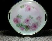Vintage C.T. Altwasser Silesia Cake Plate ~ Beautiful Cottage Roses