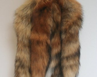 Real Red Fox Tails with Leather Lace