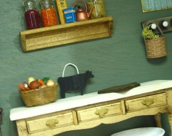 Wash Tub Painted White Shabby Chic Country Dollhouse