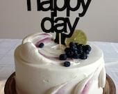 Oh Happy Day - Modern Wedding Cake Topper