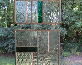 Clear Textures - Clear / Blue / Teal Glass: Stained Glass Panels