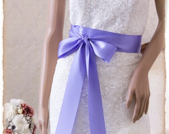 Bridal Sash IRIS, Satin Ribbon Sash, Wedding Sash, Bridesmaids Sash, Bridal Belt, Satin Bridal Sash