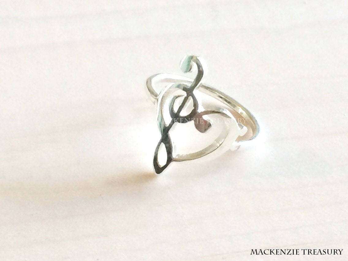 Music Note Ring Heart Music Ring Love Of Music Necklace