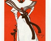 Vintage Fashion Print Art Nouveau  C.1970  Magazine Poster Advertisement