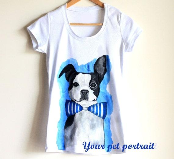 custom pet portrait on t shirt woman unique t shirt your
