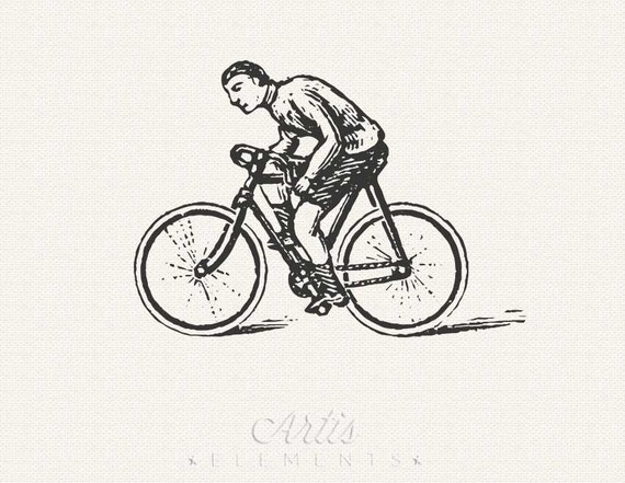 free clip art of bicycle rider - photo #48