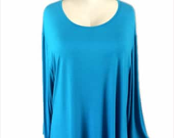 CLEARANCE SALE | Casual Tunic Top | Plus Size Clothing for Women Long Sleeve | Tunic Tops 1x 2x 3x 4x, Plus Sizes for the Full Figure Woman