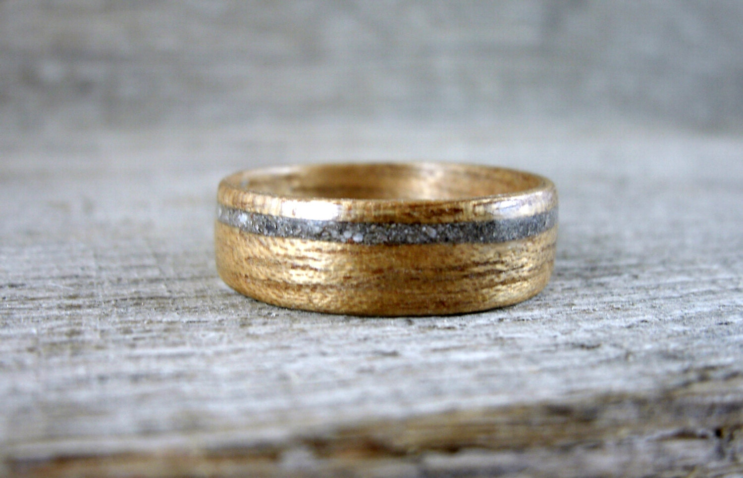 Concrete Wood Inlay, Wedding Ring, Engagement 🔎zoom