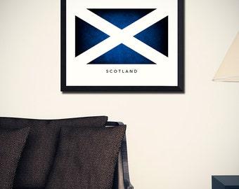 Scotland Flag Art Print (w/ Free Shipping!)