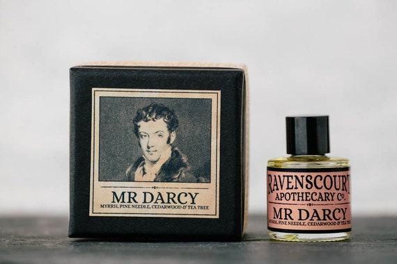 "Men's Cologne ""Mr Darcy"" - Myrrh, Pine Needle, Cedarwood & Tea Tree. Natural Botanical Fragrance For Men. 10 ml"