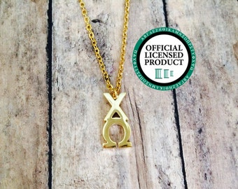 Chi Omega Letter Necklace | Sorority Necklace | Sorority Lavalier | Chi Omega Lavalier | Chi Omega Necklace | Chi Omega Jewelry | Chi O