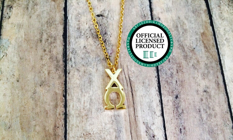 Chi omega letter necklace sorority necklace sorority for Sorority necklaces letters