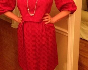Satiny Cranberry Colored Dress
